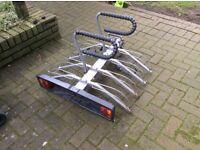 4 bike bike carrier swan neck tow bar