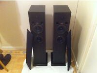 acoustic energy ae 109 floor stand stereo speakers