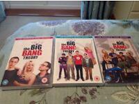 The Big Bang Theory seasons 1, 2 and 3 dvd