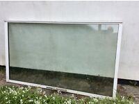 Large double glazed French window