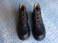 Men's working steel toe capped boots brown new