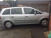 Vauxhall zafira 1.6 life 06 plate 7 seater manual £1300