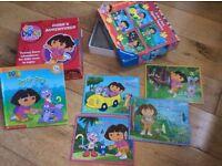 Dora the Explorer - set of 21 books (paperback), 1 hardback book and jigsaw