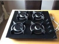 Teba built in gas on glass hob