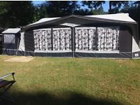 Dorema Carrera full Awning Size 18 Charcoal/grey including tall annex. Collection only