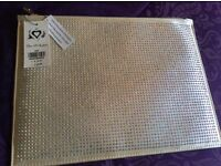 Brand new with tags Miss Selfridge sequinned IPad/notebook zipped case RRP £20