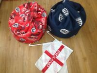 Kids England Football Beanbags and free flags