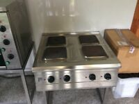 PARRY 4 RING COUNTER TOP STAINLESS STEEL ELECTRIC HOB WITH STAND
