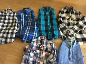 Hollister and Superdry shirts