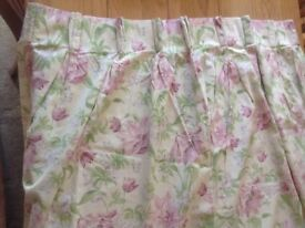 Laura Ashley curtains plus spare material