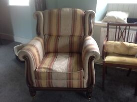 Large Quality Regency Sofa, Armchair & footstool