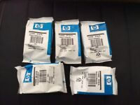 Two black and three colour HP301xl cartridges