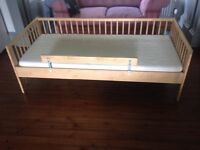 Ikea toddler cot bed, with mattress, excellent condition