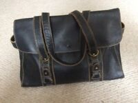 Jane Shilton Black Leather Handbag