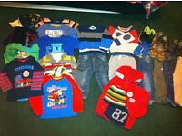 Bundle of boy clothes and shoes 1.5-2y