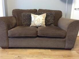 "Chocolate Brown 2 Seater Sofa ""Next"""