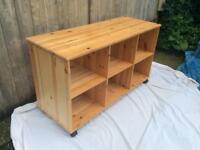 2x Wooden Storage Units - Perfect For A Playroom