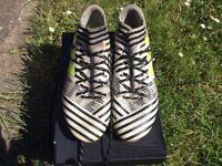 ADIDAS NEMEZIZ FOOTBALL BOOTS SIZE 8 / FIRM GROUND / USED