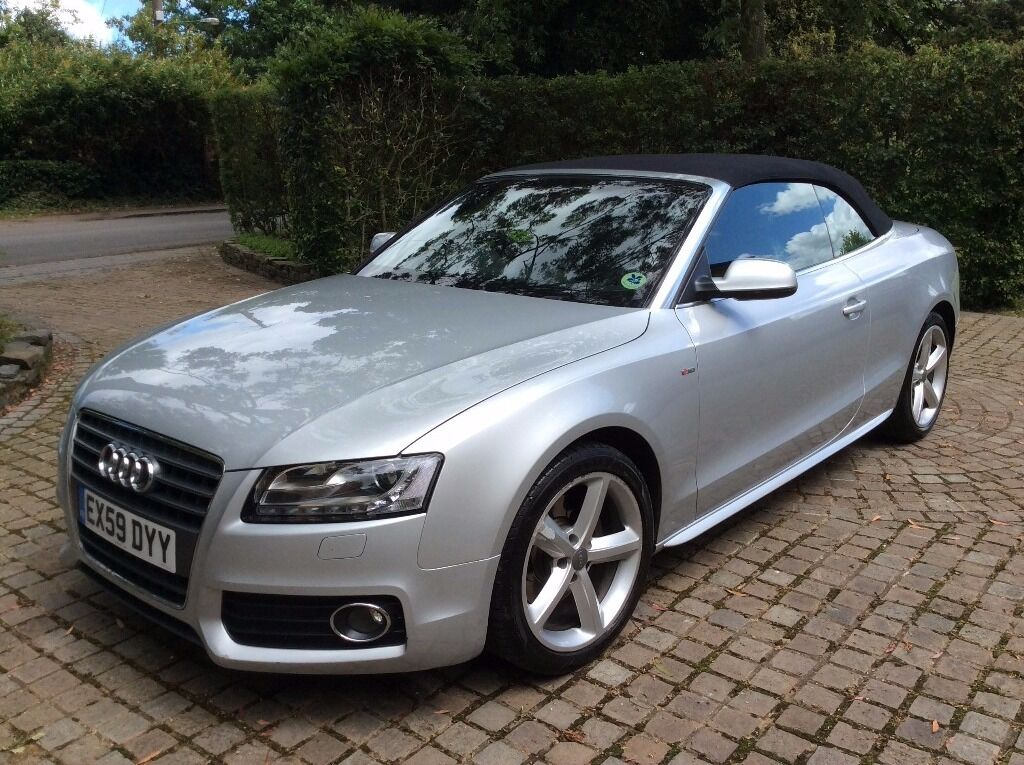 High spec silver 2010 audi a5 convertible s line for sale for For sale on line