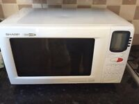 Microwave combi oven grill 900w white good working order sharp