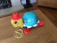 Vintage Fisher Price ' Tip Toe Turtle' toy