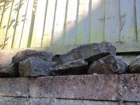 Rockery stones . Assorted sizes