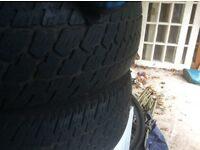 Winter tyres from Land Rover freelander only used 6 weeks perfect cond Buyer collects