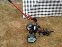 Hill billy electric golf trolley with bag