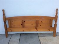 Pine headboard 5' Ready for collection