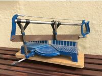 Picture framing tools including angle saw