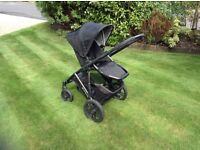 UPPABABY VISTA PUSHCHAIR AND CARRYCOT WITH EXTRAS, BLACK, 2013 MODEL