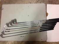Used set of right handed golf irons