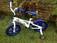 Boys police bicycle with stabilisers - excellent condition