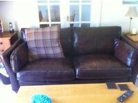 3 seater, John Lewis leather sofa