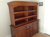 Two peice,Sideboard and unit,in dark oak.