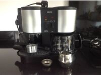 coffee machine which makes great cappuccinos, espresso and filter coffees.