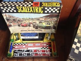 Scalextric Set 50 - Vintage slot car set in original box