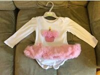 Baby girl first birthday decoration and dress