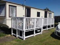 Caravan to rent, Chapel St Leonard's, BOOK NOW FOR SEPT, BALCONY, Golden palm resort 4 berth