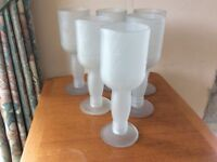"Frosted glass ""vodka""wine glasses"
