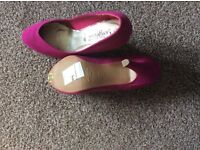 Pink court shoes from new look size 4 New