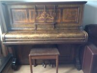 Upright Piano with stool for sale