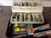 a fishing tackle box full of lures pike / bass / sea fishing