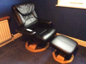 Restwell Palermo Swivel Massage Chair & Stool