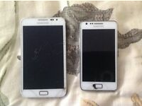 Galaxy note 1 and Galaxy s2 (Unlocked)