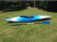 ***Perception Whiplash Kayak and paddle - NEVER USED!***
