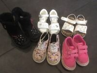 Girls shoe, boot, trainer bundle 5pairs size 7 uk