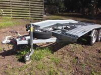 BORO fully galvanised steel, four wheel car transporter/trailer. Ideal commercial use.