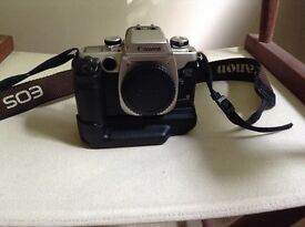 EOS 50 E Film Camera with Battery Grip, 1 Film & Lowepro Bag