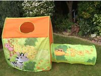 Fabric playhouse for young children - brightly coloured and great fun.